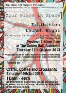 Details of an exhibition by local artists